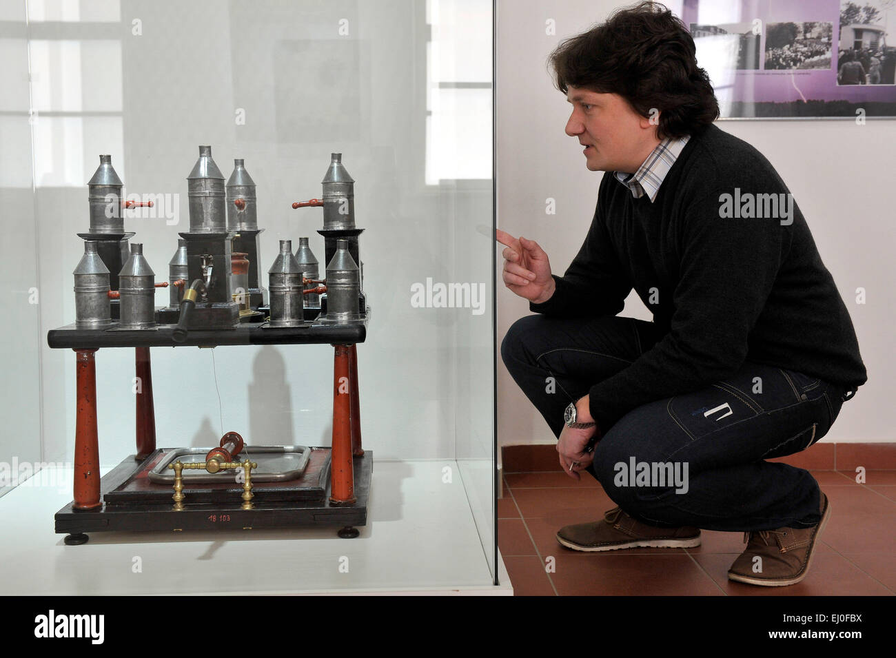 An exhibition to mark the 250th anniversary of the death of Prokop Divis, Czech inventor of the first grounded lightning - Stock Image