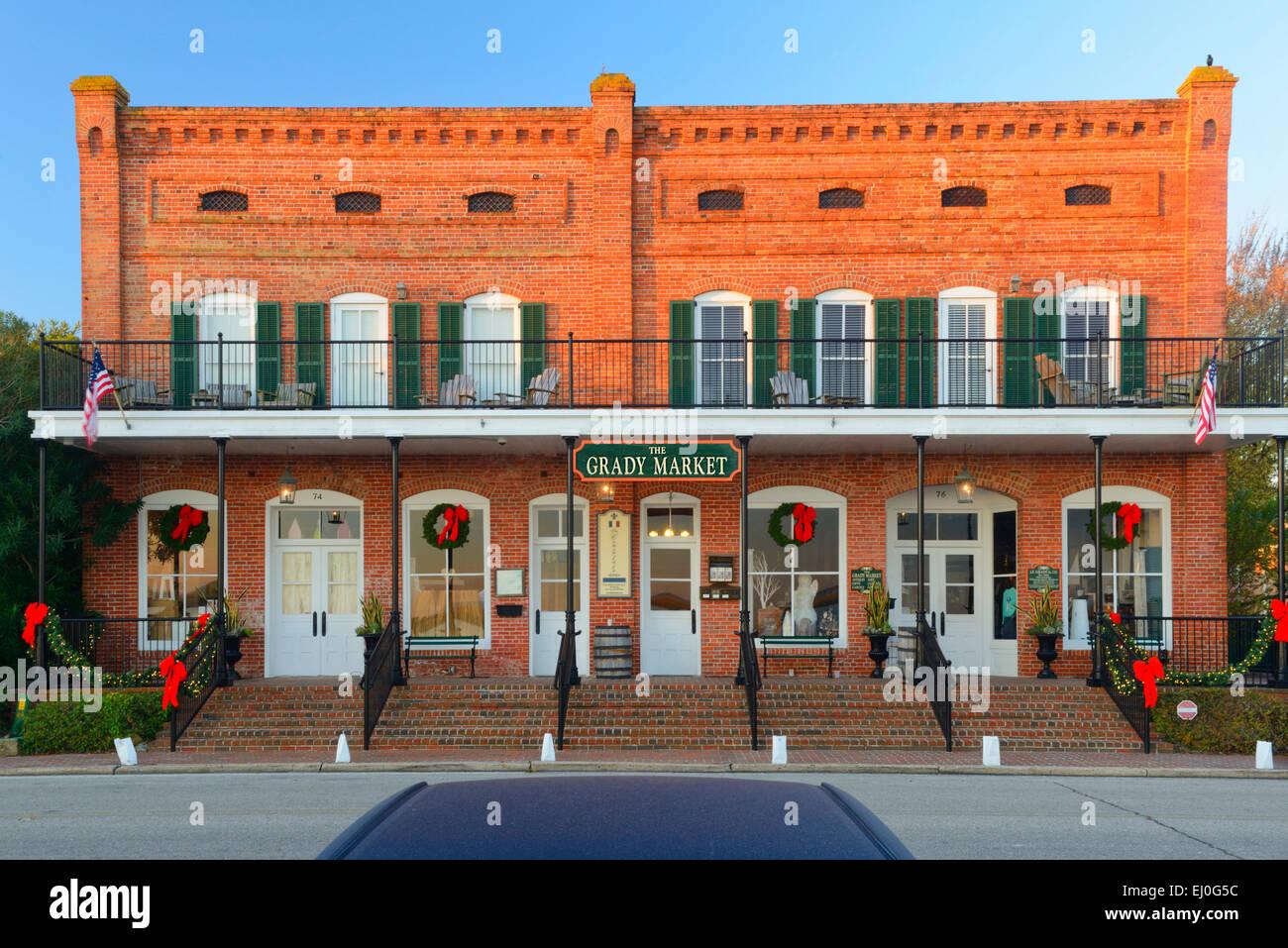 USA, Florida, Franklin County, Apalachicola, Grady Market - Stock Image