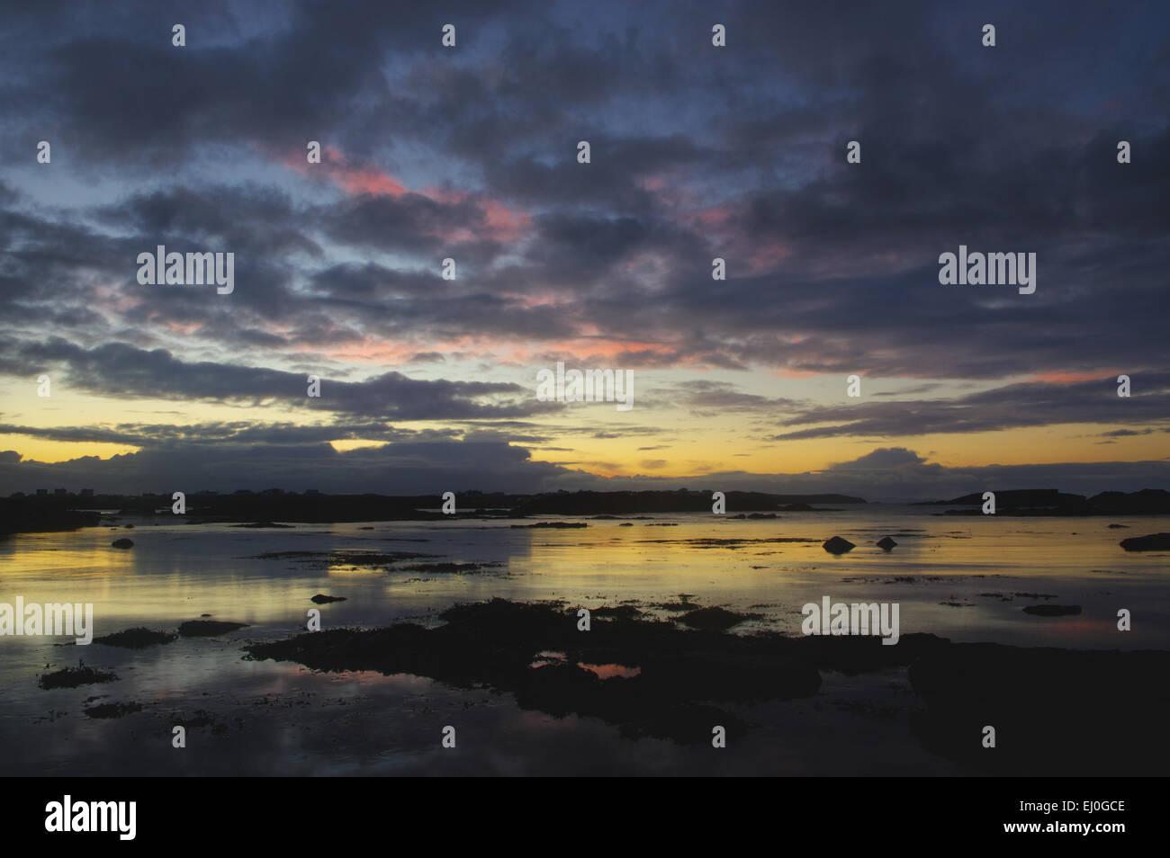 Sunrise, Trearddur Bay, Anglesey, - Stock Image