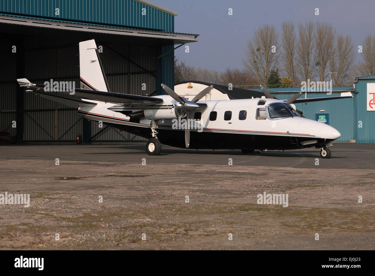 Gulfstream 695A Jetprop 1000 twin engined executive business aircraft a deriative of the original Rockwell Commander - Stock Image