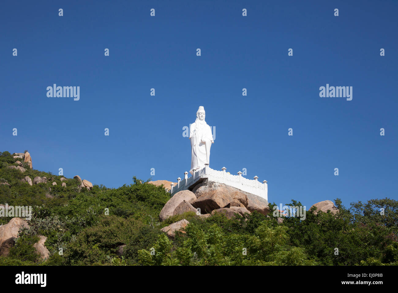 Thien, Vien, Truc Phan, Rang, Ninh, Thuan, Buddha, Buddha statue, Buddhism, Buddhist, figure, place of interest, - Stock Image