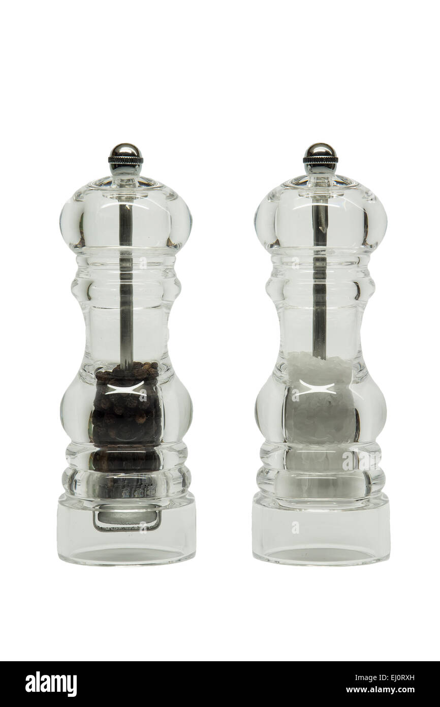 Salt and pepper mills - Stock Image