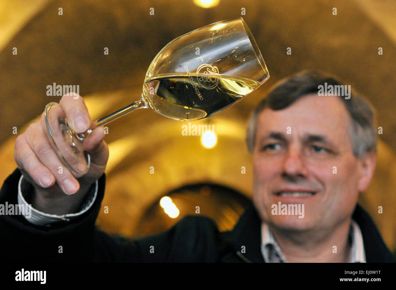 Znovin Znojmo, one of biggest domestic wine makers, last year reached one of the highest profits in recent years - Stock Image
