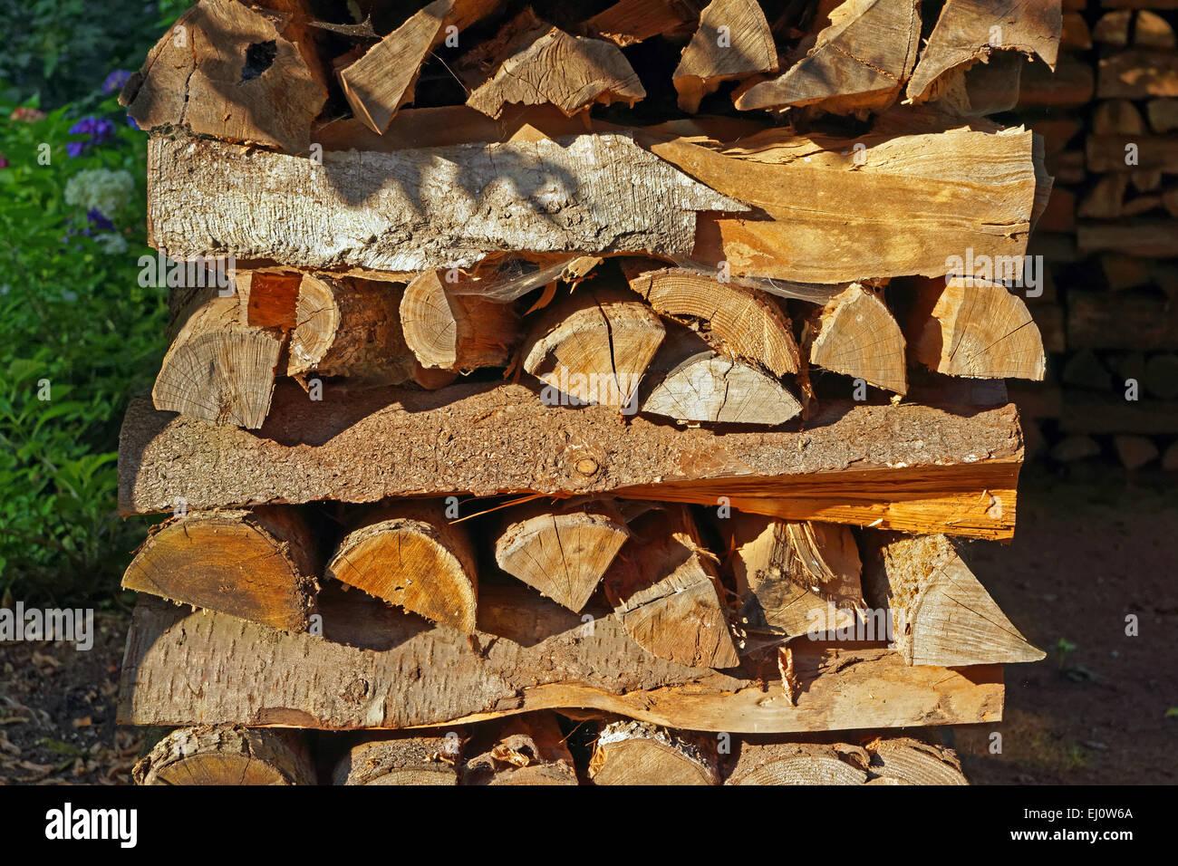 Europe, Germany, Europe, Rhineland-Palatinate, Erlenbach bei Dahn, castle, Berwartstein, wooden pile, detail, mood, Stock Photo