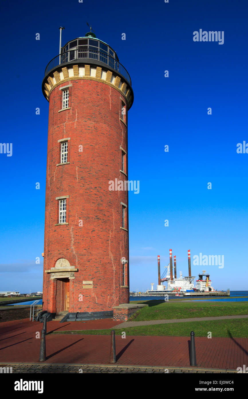 Old love, Cuxhaven, Germany, Europe, harbour, port, harbour, port, Hamburg  lighthouse, sky, coast, lighthouse, - Stock Image