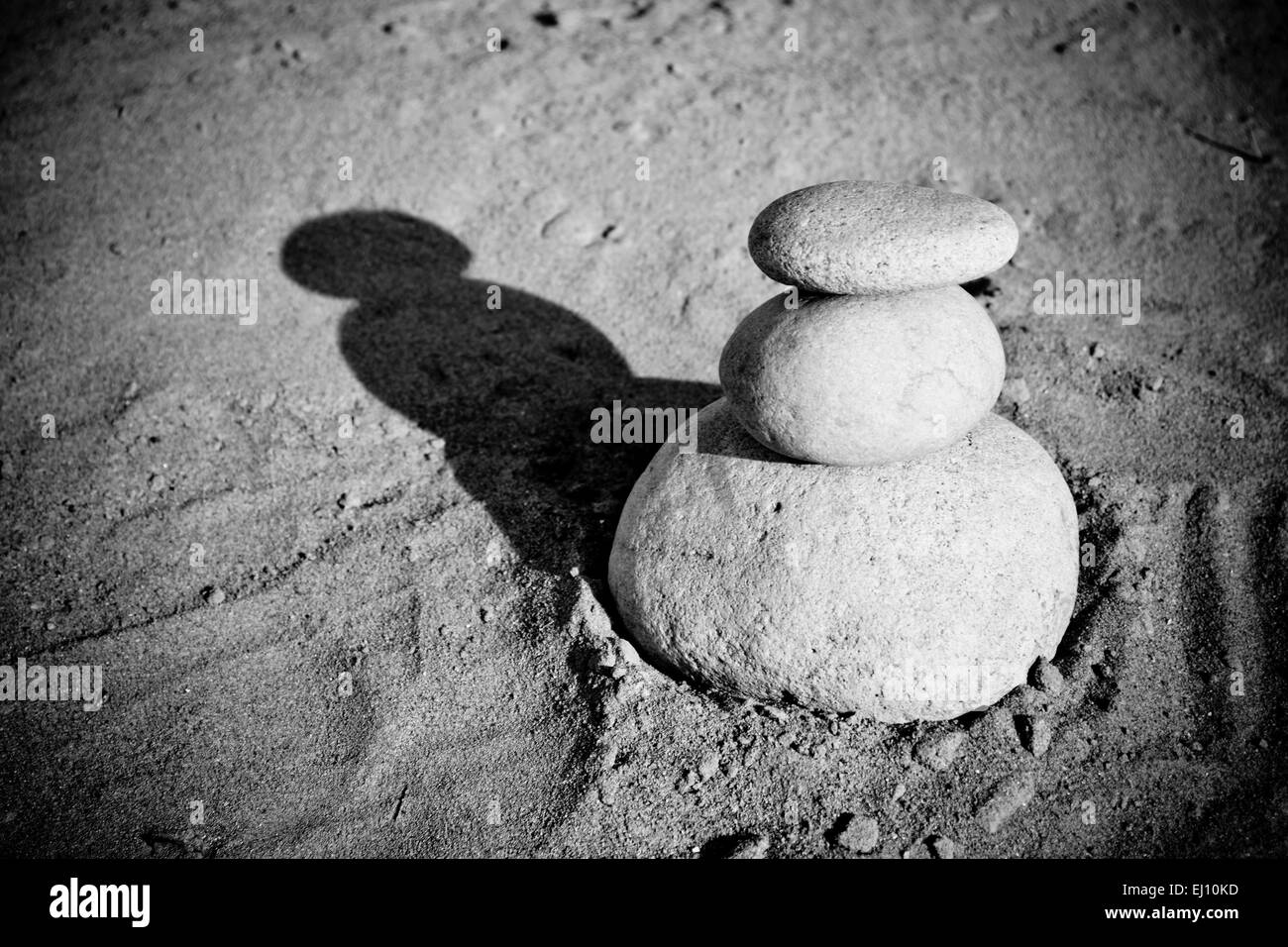 Stack of pebbles - Stock Image