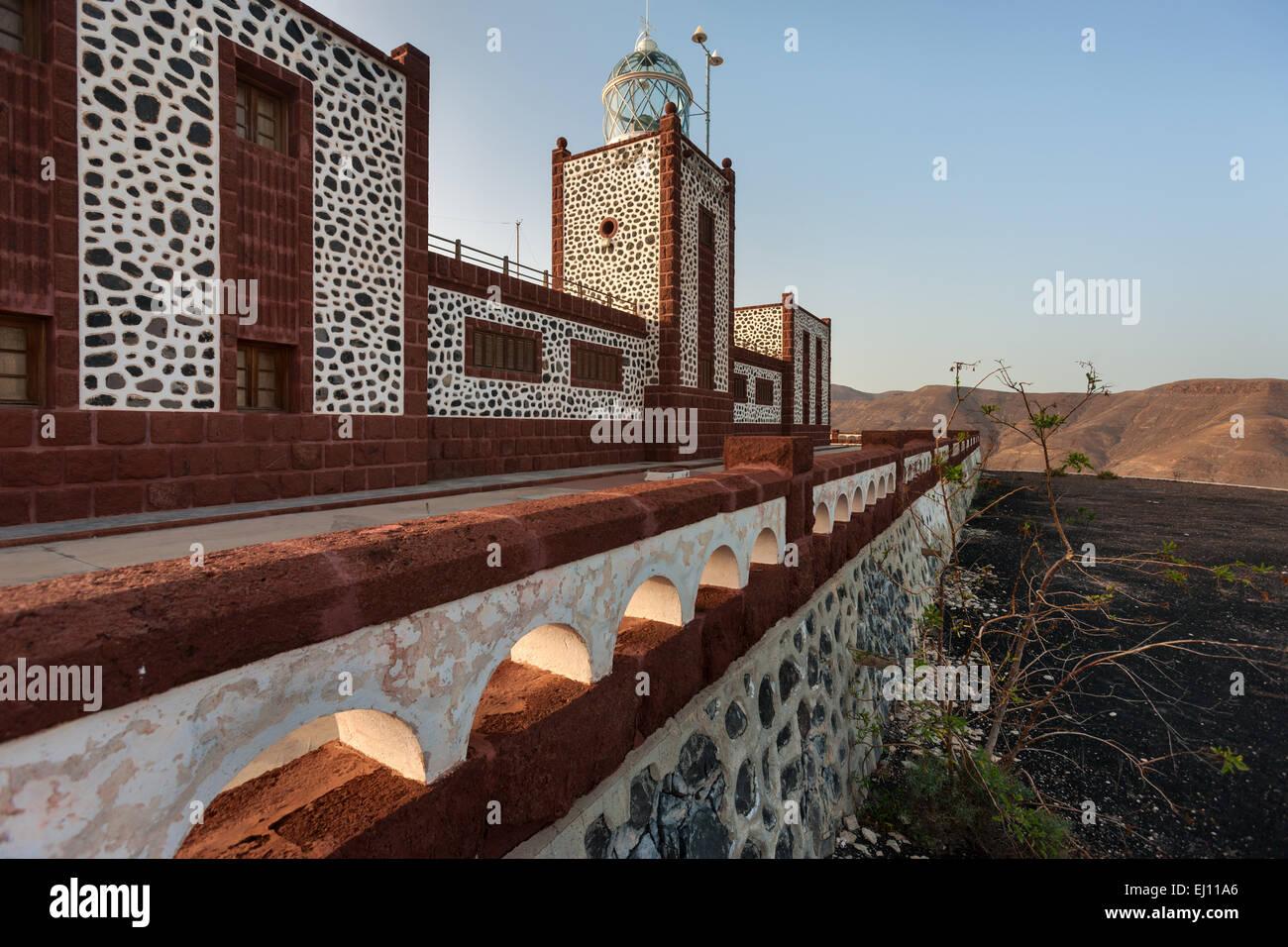 Faro de la Entellada, Spain, Europe, Canary islands, Fuerteventura, coast, lighthouse - Stock Image