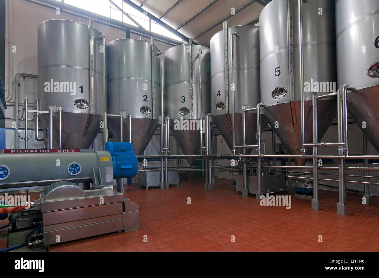 Oil mill factory Asuncion and San Jose, Rus, Jaen province, Region of Andalusia, Spain, Europe - Stock Image