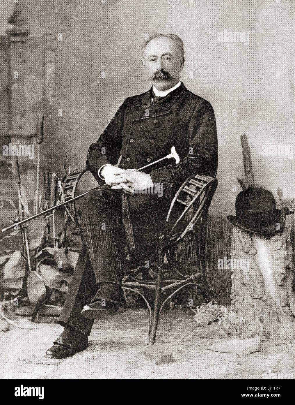 Maurice (Zvi) von Hirsch, 1831 – 1896.  German-Jewish philanthropist. - Stock Image
