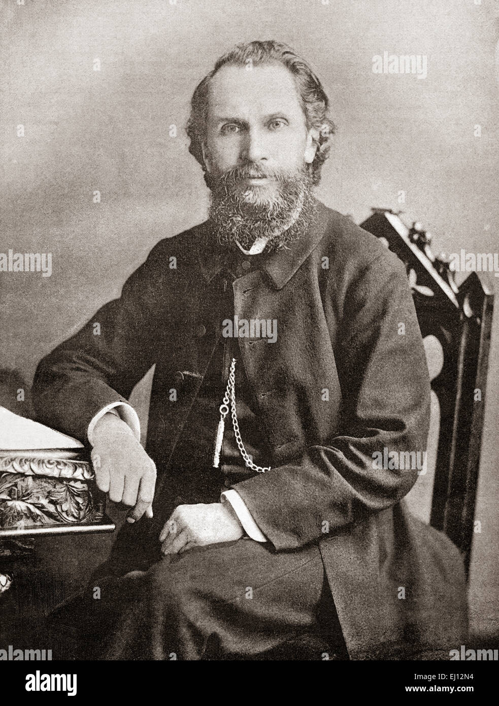 The Revd Benjamin Waugh,  1839 –  1908.   Victorian social reformer and campaigner who founded the UK charity NSPCC. - Stock Image