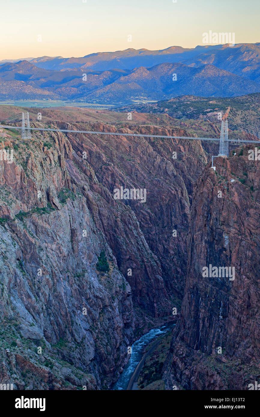 Royal Gorge, Royal Gorge Bridge and Arkansas River, Canon City, Colorado USA - Stock Image