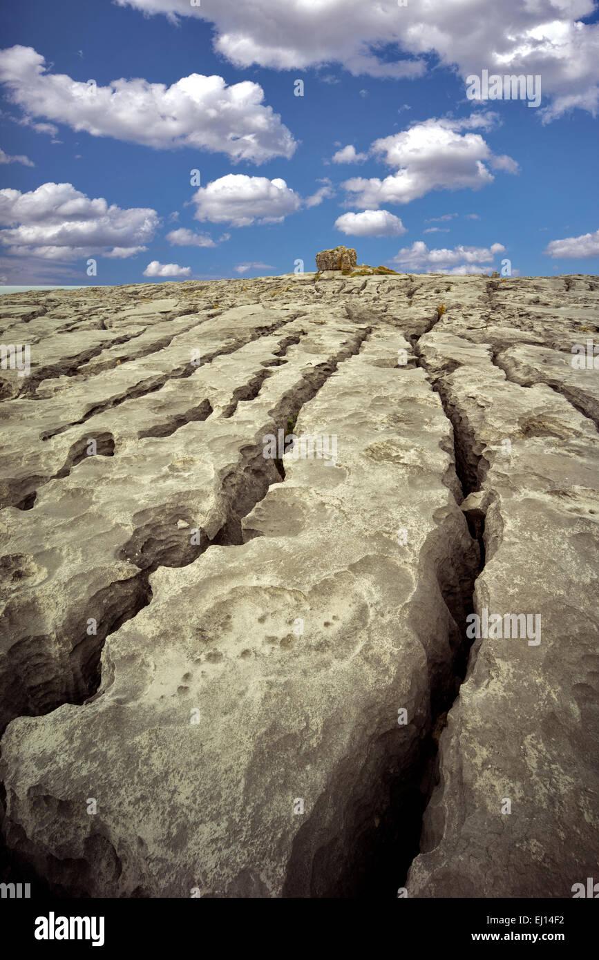 Karst landscape. The Burren, County Clare. Ireland - Stock Image