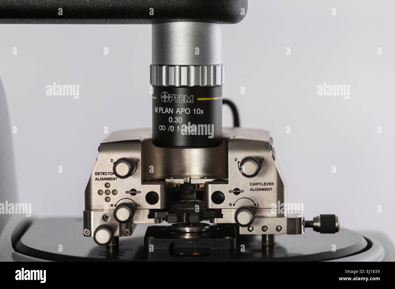 Atomic force microscope - Stock Image