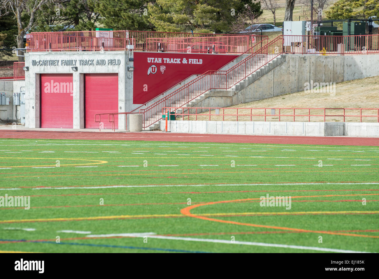 University of Utah outdoor Track and Field - Stock Image