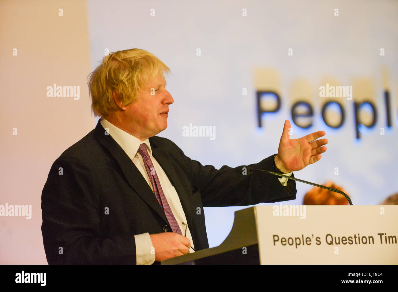 Wood Green, Haringey, London, UK. 19th March 2015. London Mayor Boris Johnson and the London Assembly take part - Stock Image