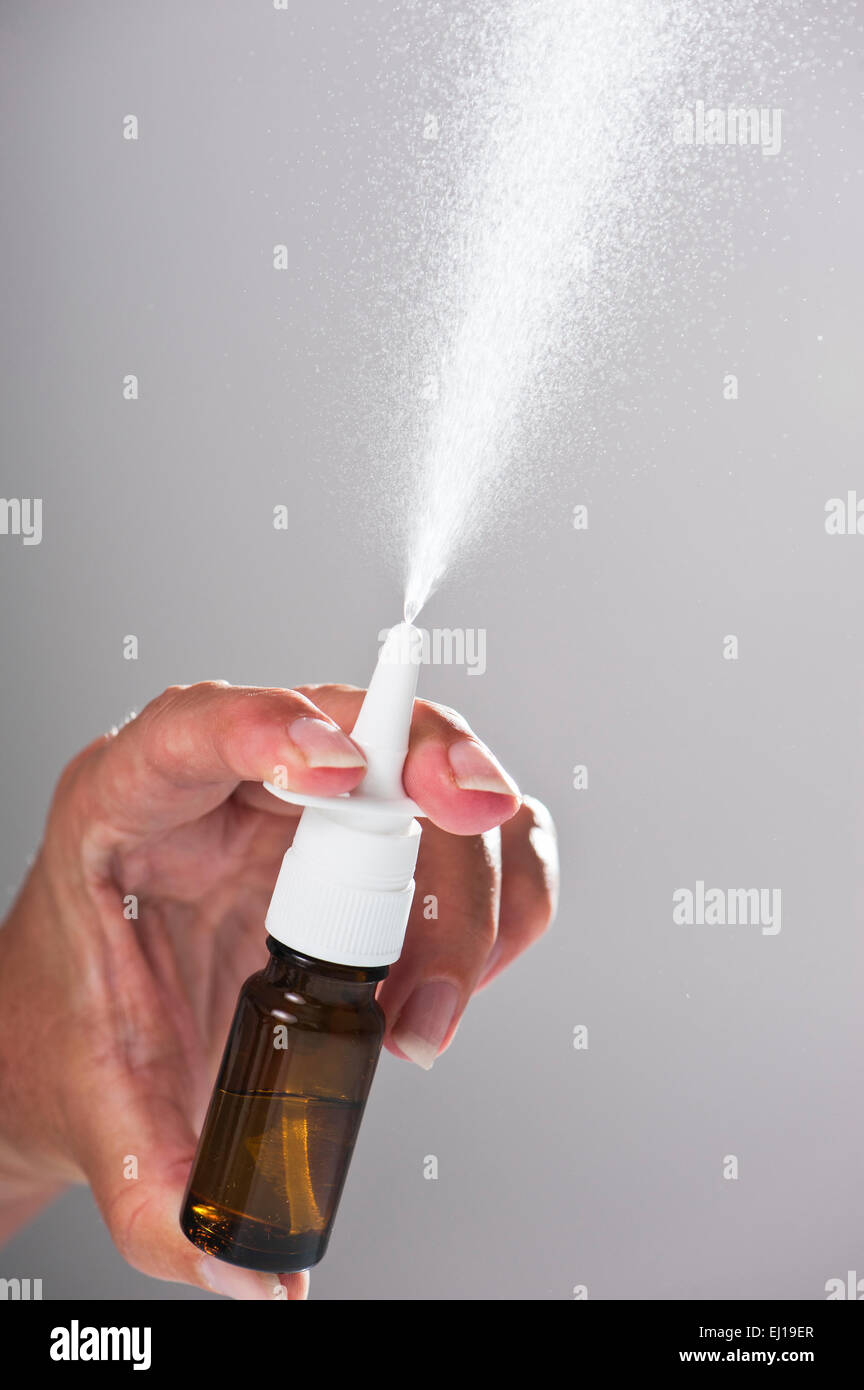 Nasal spray - Stock Image