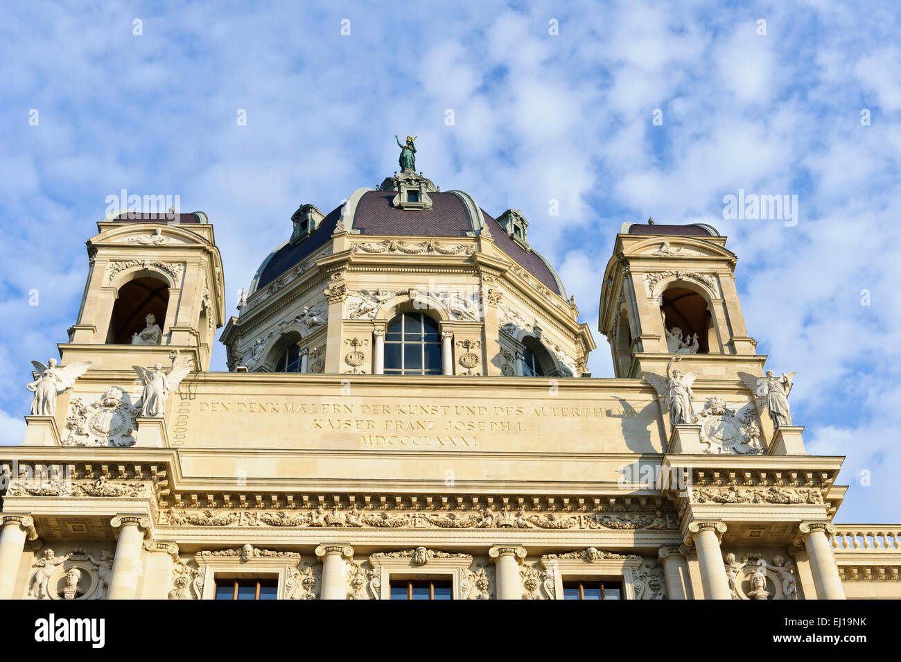 The decorative facade of the Museum of Art History, Vienna, Austria. Stock Photo