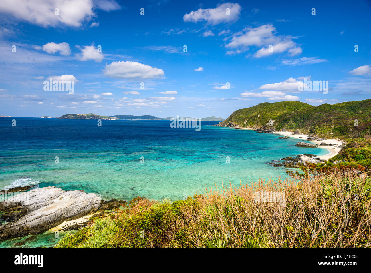 Tokashiki, Okinawa, Japan coastal view at Aharen Beach. - Stock Image