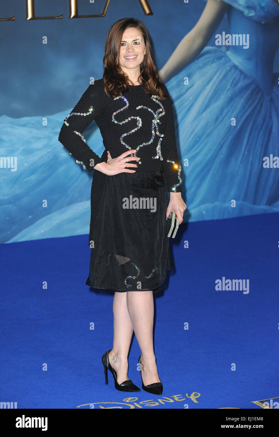 London, UK, UK. 19th Mar, 2015. Hayley Atwell attends the UK ...