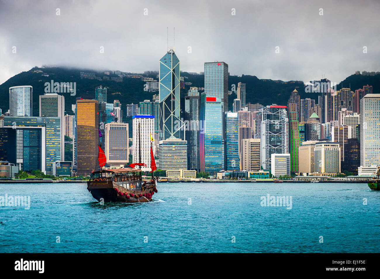 Hong Kong, china city skyline. - Stock Image
