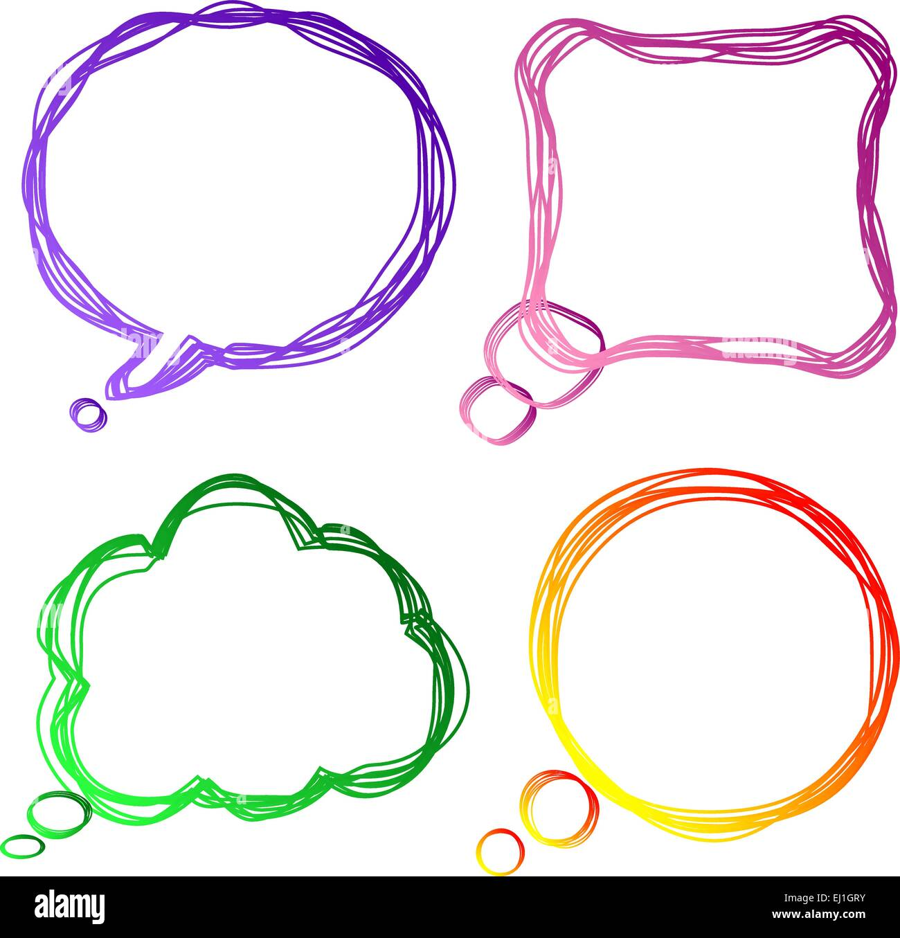 Set of colourful speech Bubbles, vector illustration - Stock Vector