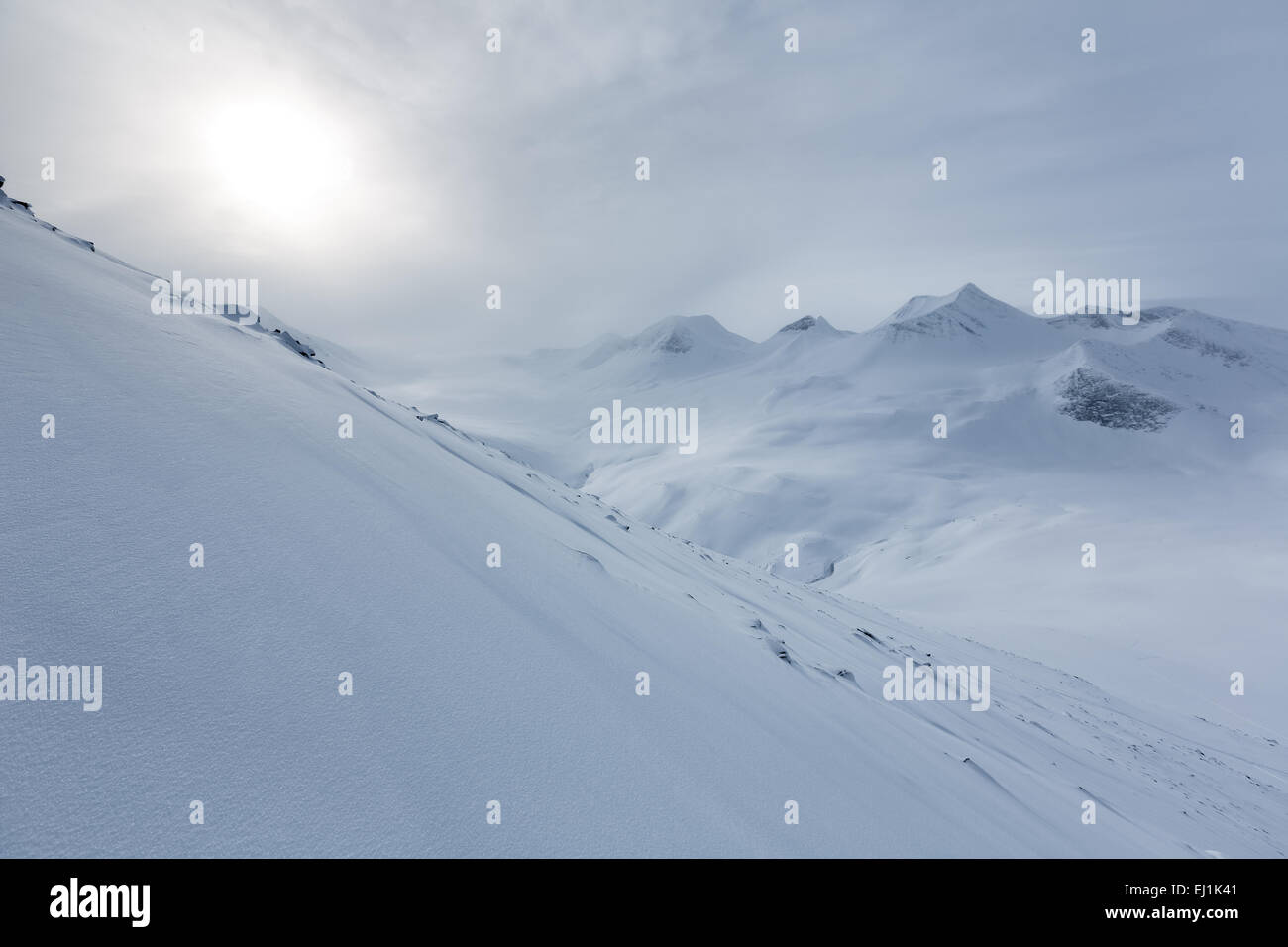 Nallostugan, Kebnekaise mountain area, Kiruna, Sweden, Europe, EU Stock Photo