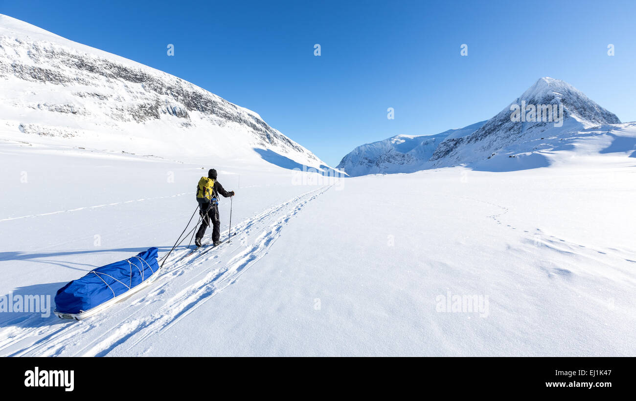Kebnekaise mountain area, Kiruna, Sweden, Europe, EU - Stock Image