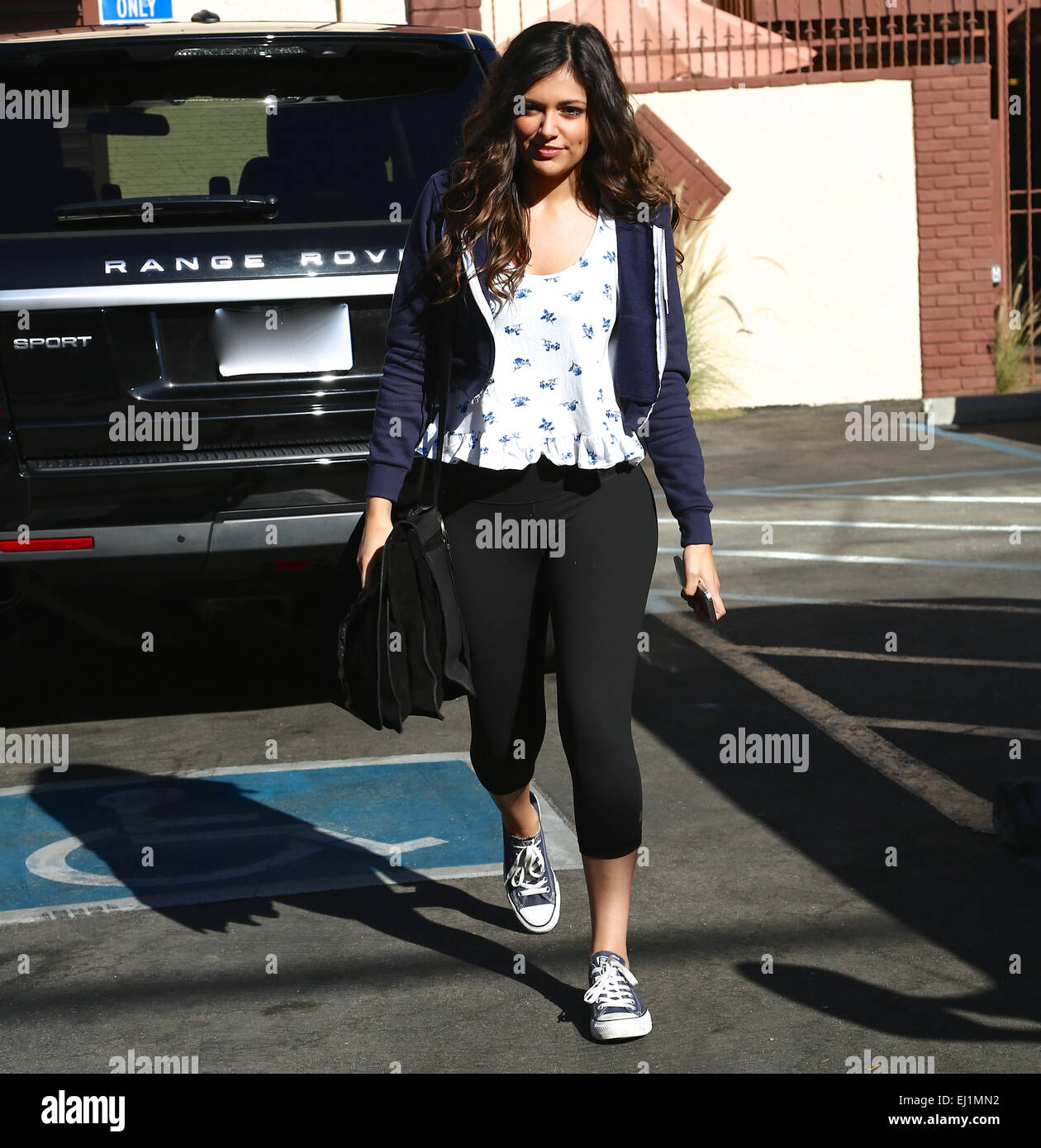 c8ad56a2e500 Bethany Mota arrives at the Dancing With the Stars season 19 rehearsal  studio for a final