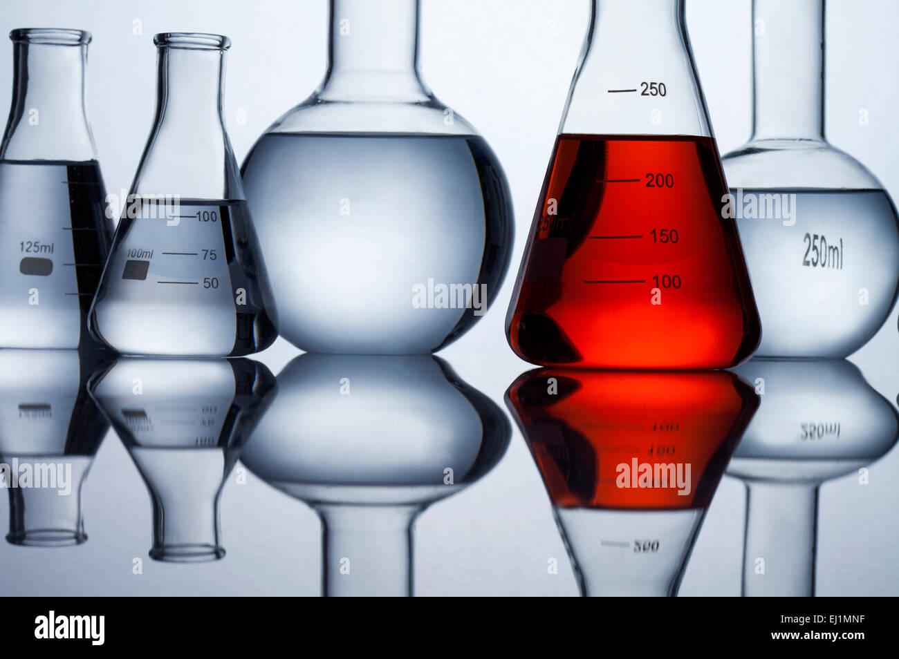 Healthcare And Medicine,Glassware,Utensil,Flask,Conical Flask Stock Photo