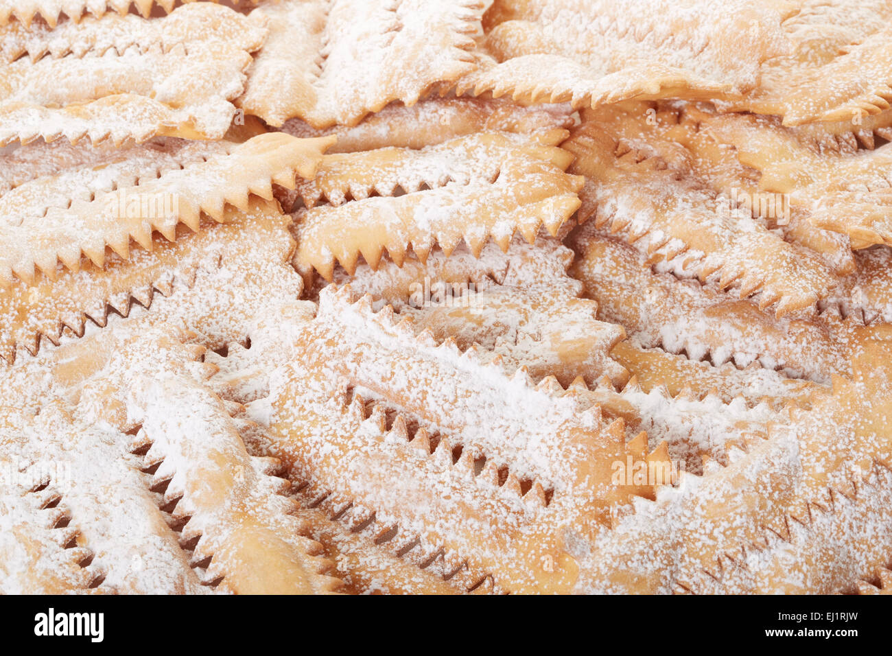 Chiacchiere, italian Carnival pastry background - Stock Image