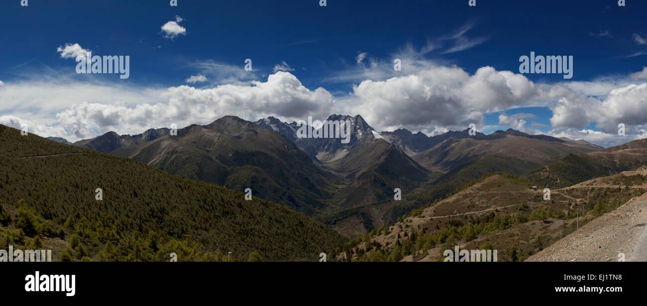 Meri Snow mountain area , Yunnan,China Stock Photo