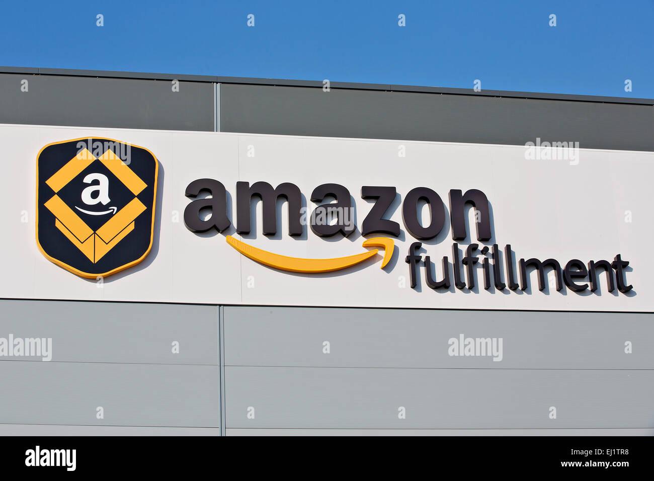Distribution center of Amazon Poland WRO2 - Stock Image