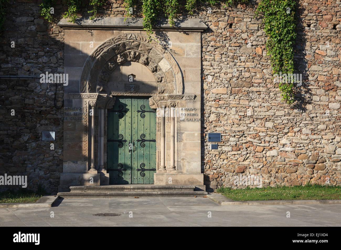 Galician Historical Archive. A Coruña. Galicia. Spain. Stock Photo