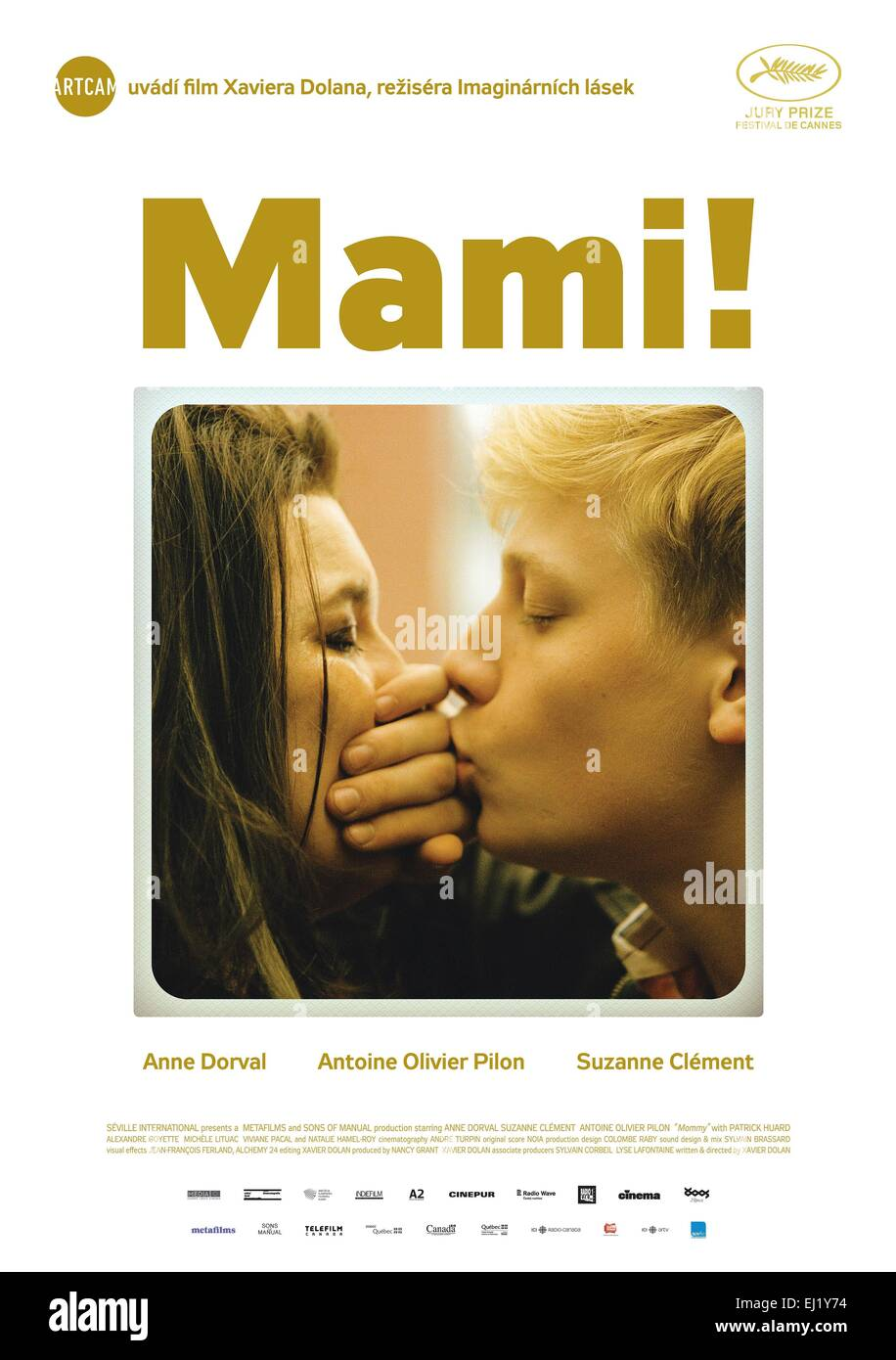 Mommy Year : 2014 Canada Director : Xavier Dolan Anne Dorval, Antoine-Olivier Pilon Movie poster (Pol) - Stock Image
