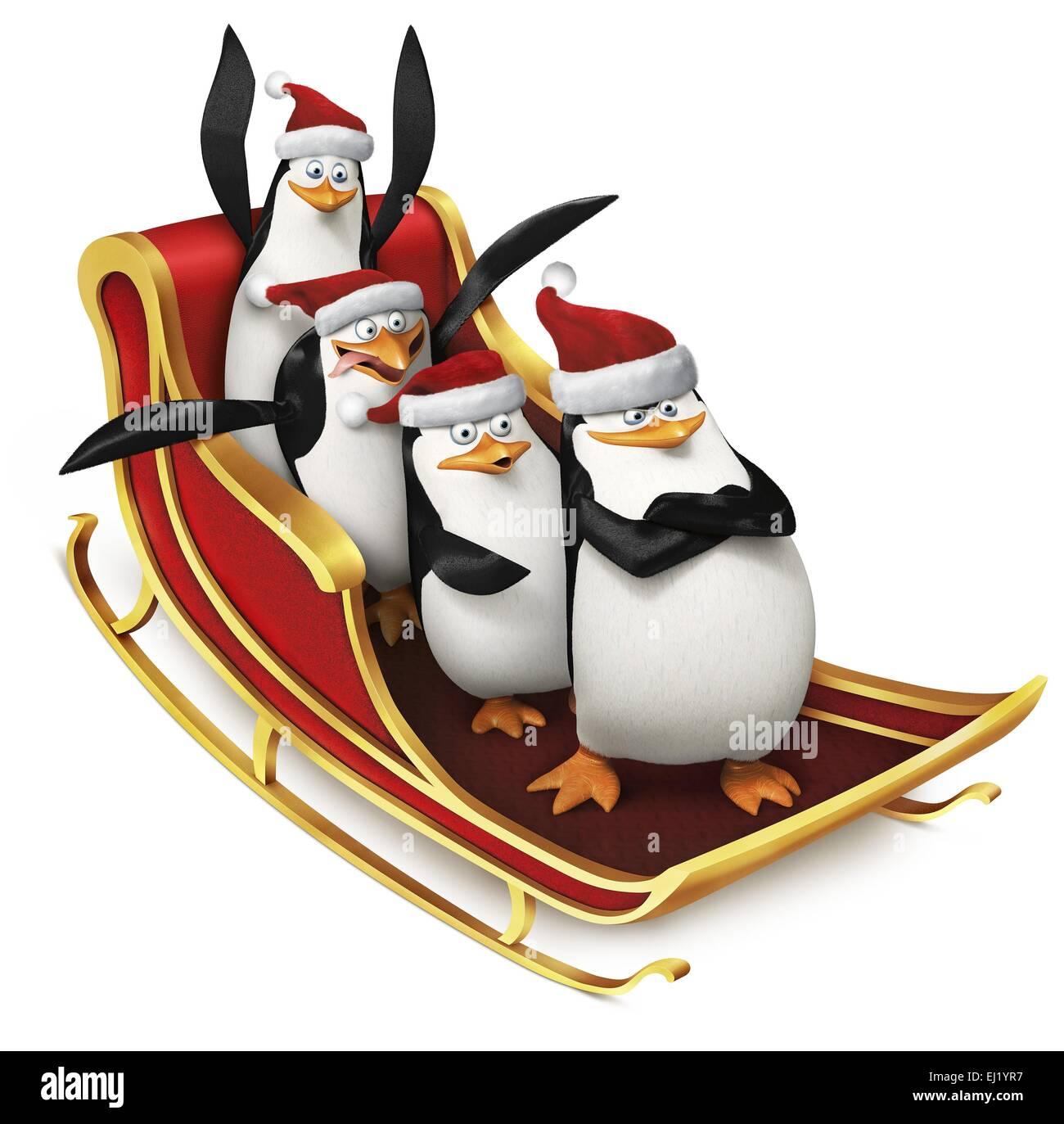The Penguins of Madagascar Year : 2014 USA Director : Eric Darnell, Simon J. Smith Animation - Stock Image