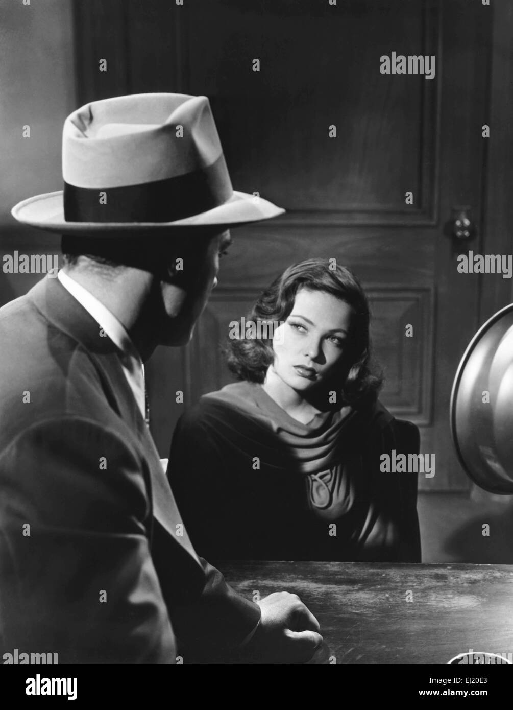 Laura  Year: 1944 USA Director: Otto Preminger Gene Tierney, Dana Andrews - Stock Image