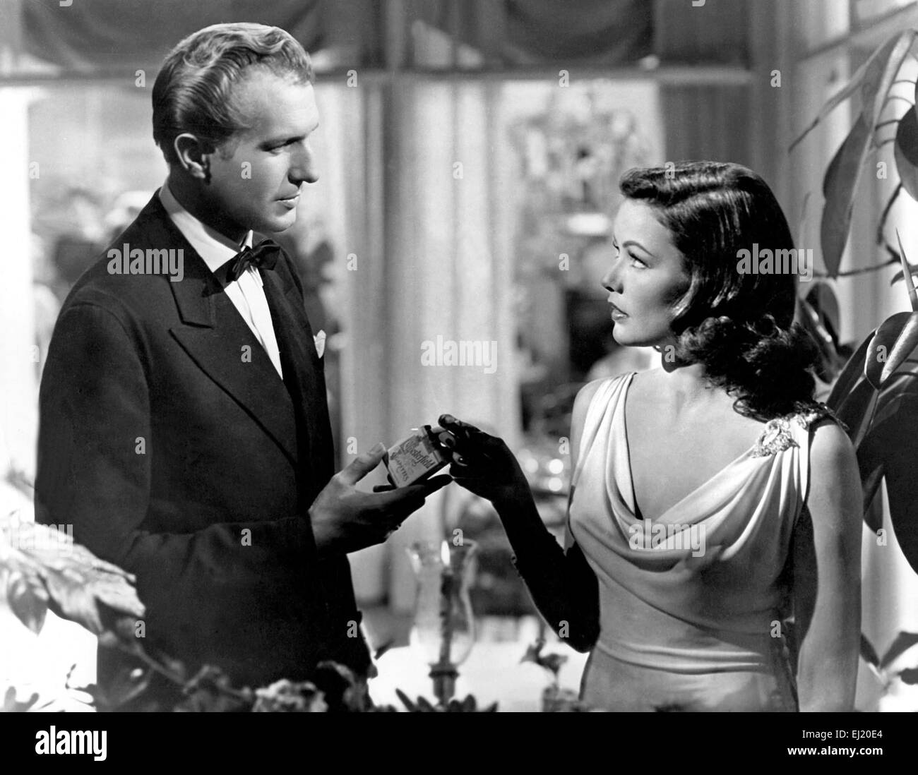 Laura  Year : 1944 USA Director : Otto Preminger Vincent Price, Gene Tierney - Stock Image