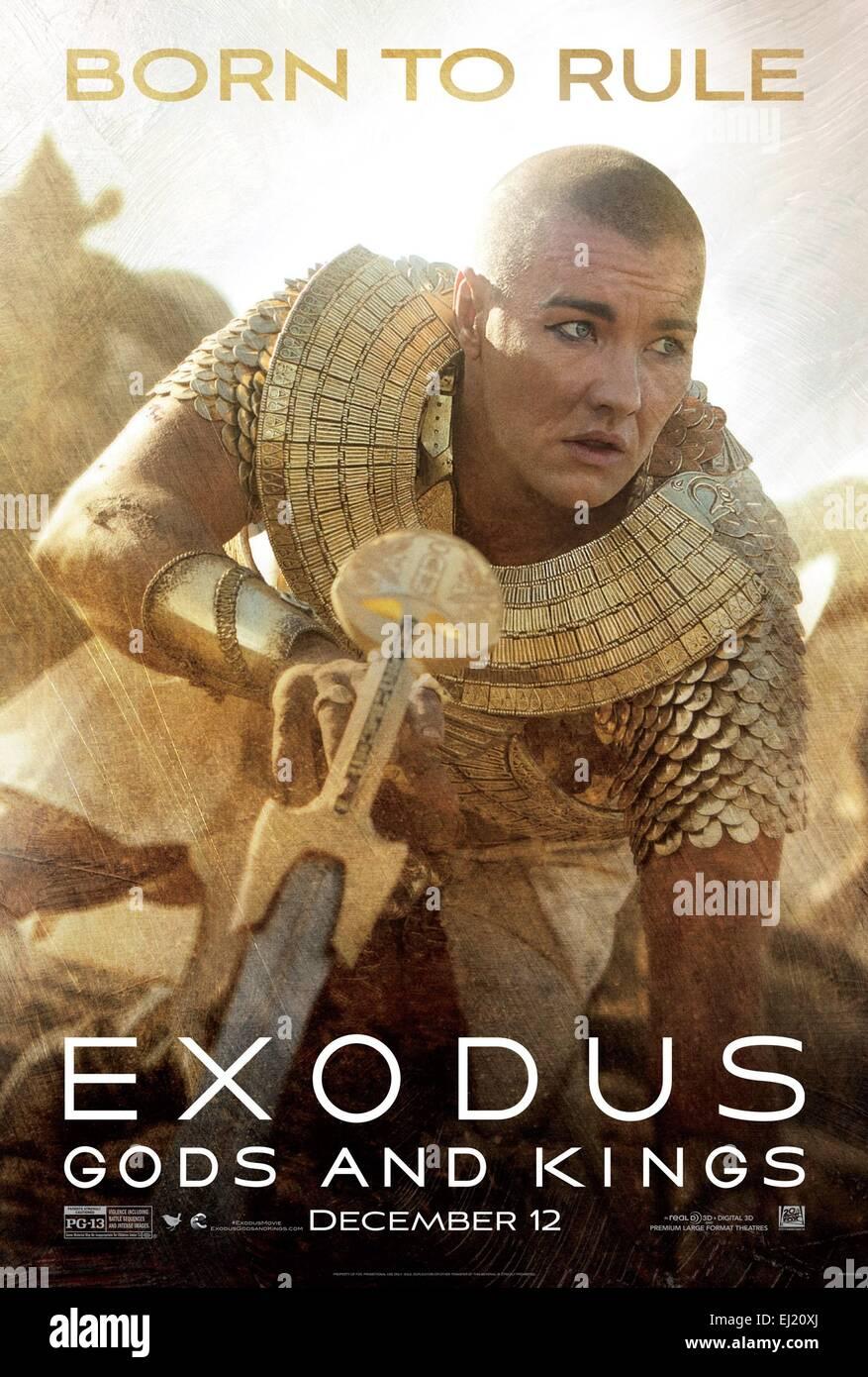 Exodus: Gods and Kings Year: 2014 USA / UK Director : Ridley Scott Joel Edgerton Movie poster (USA) - Stock Image