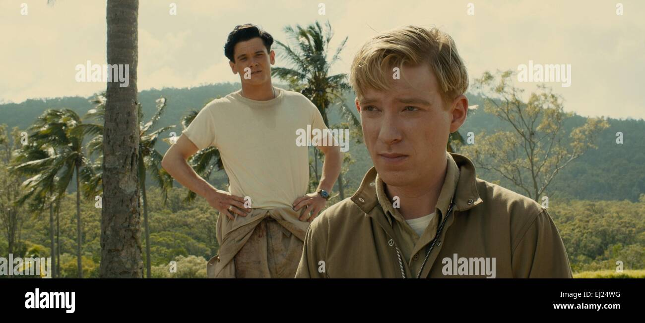 Unbroken Year : 2014 USA Director : Angelina Jolie Jack O'Connell, Domhnall Gleeson - Stock Image