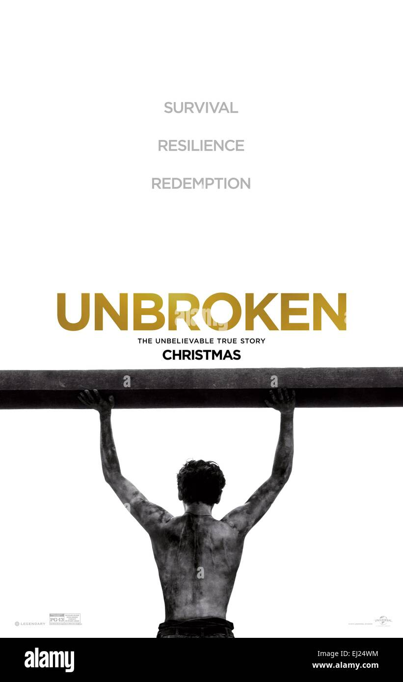 Unbroken Year : 2014 USA Director : Angelina Jolie Movie poster (USA) - Stock Image