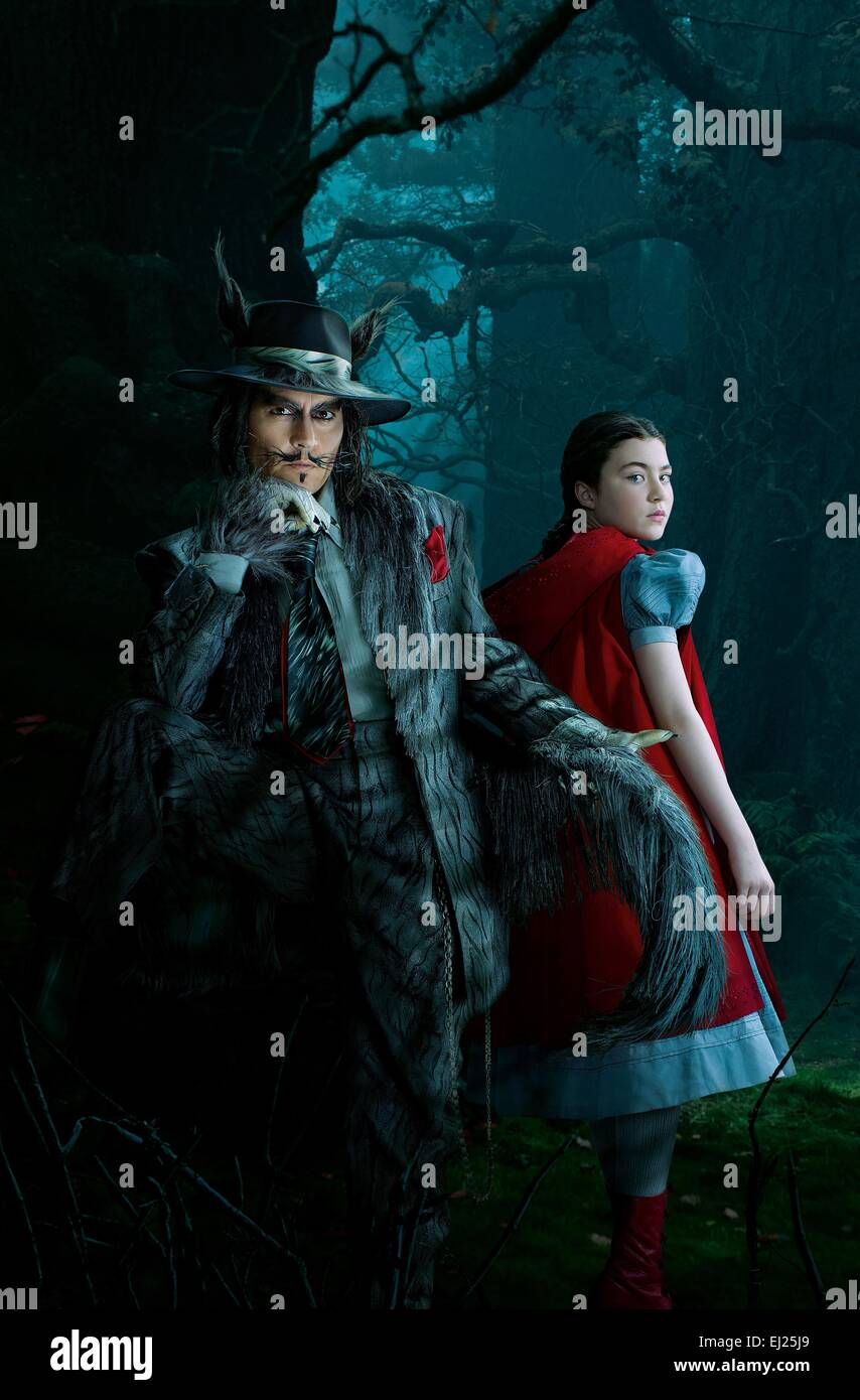 Into the Woods  Year : 2014 USA Director : Rob Marshall Johnny Depp, Lilla Crawford Movie poster (textless) - Stock Image