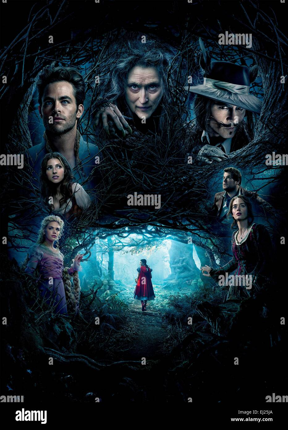 Into the Woods  Year : 2014 USA Director : Rob Marshall Mackenzie Mauzy, Anna Kendrick, Chris Pine, Meryl Streep, - Stock Image