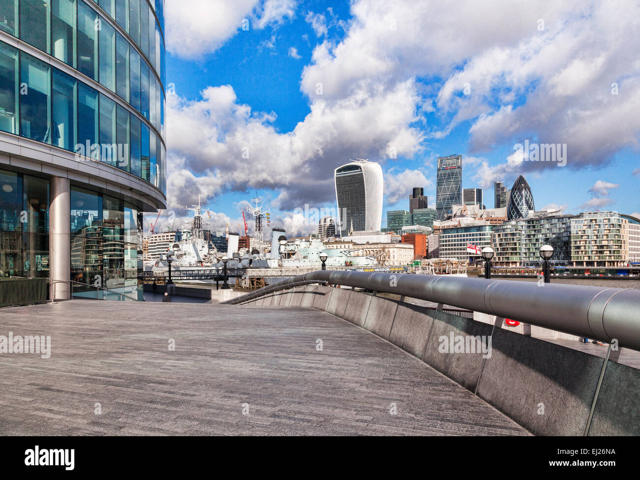 London skyline and More London, London, England. - Stock Image