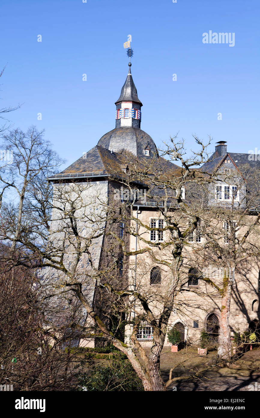 Castle buildings of the Oberes Schloss or Upper Castle, Siegen, North Rhine-Westphalia, Germany, Europe, das obere Stock Photo