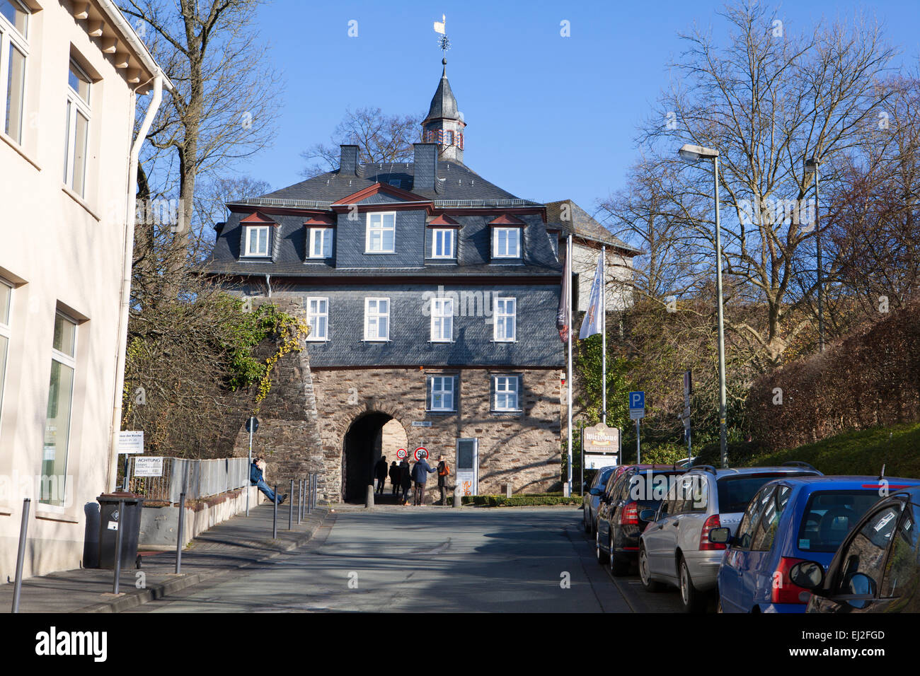 Castle buildings of the Oberes Schloss or Upper Castle, Siegen, North Rhine-Westphalia, Germany, Europe, Stock Photo