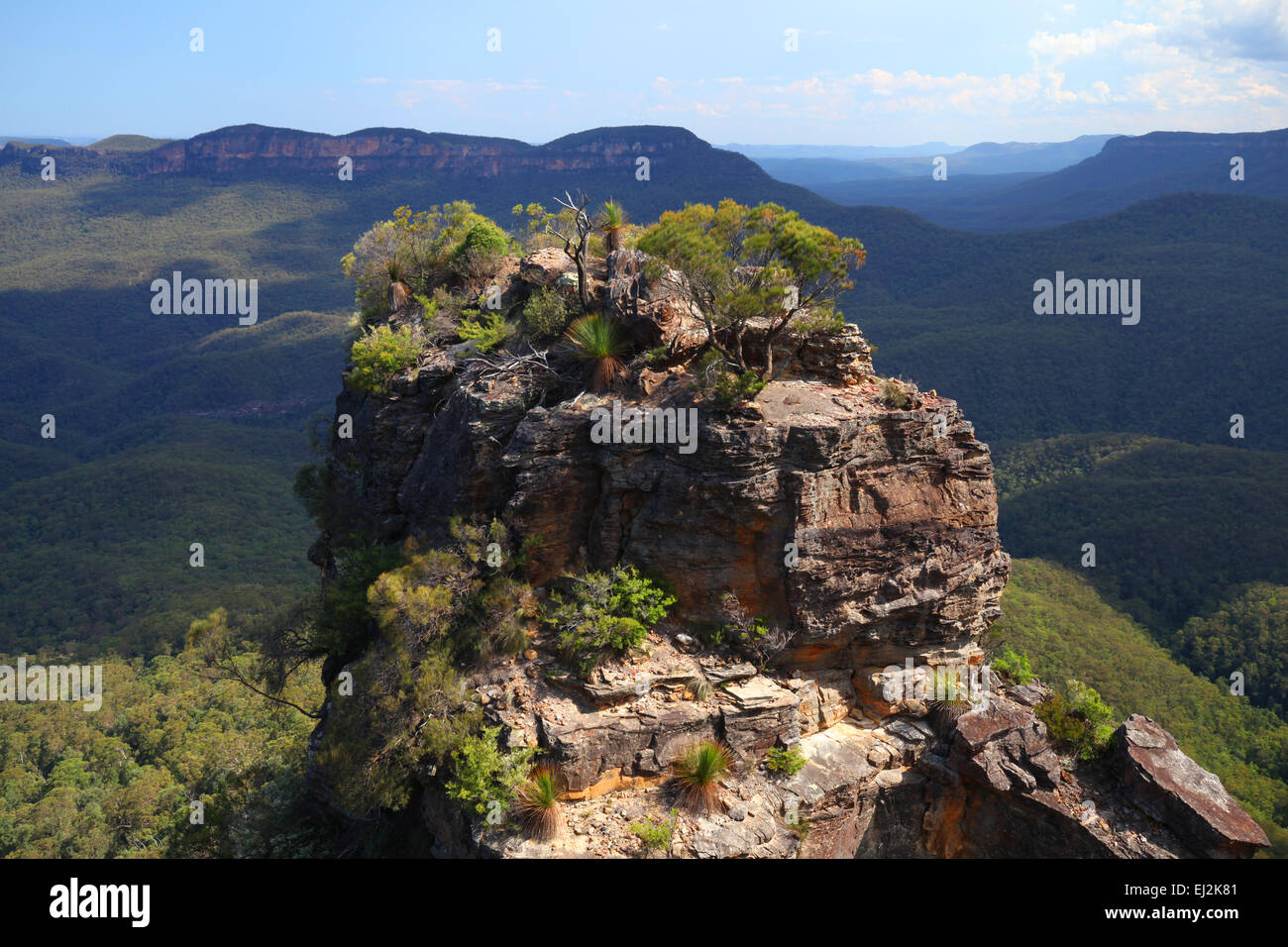 The Blue Mountains in New South wales, Australia - Stock Image