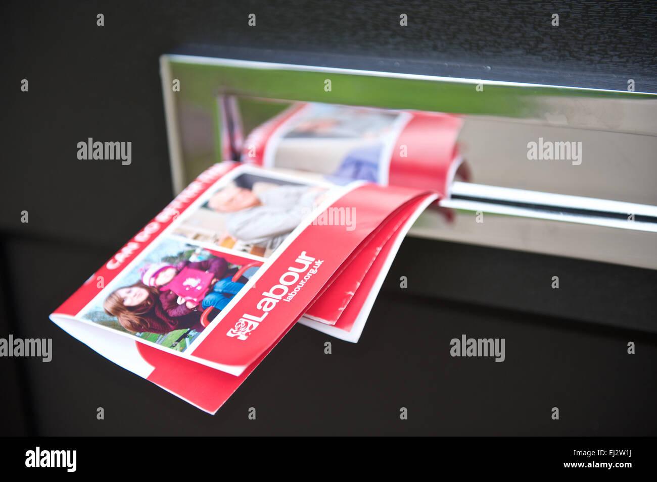 General Election 2015 Labour  Party leaflet - Stock Image