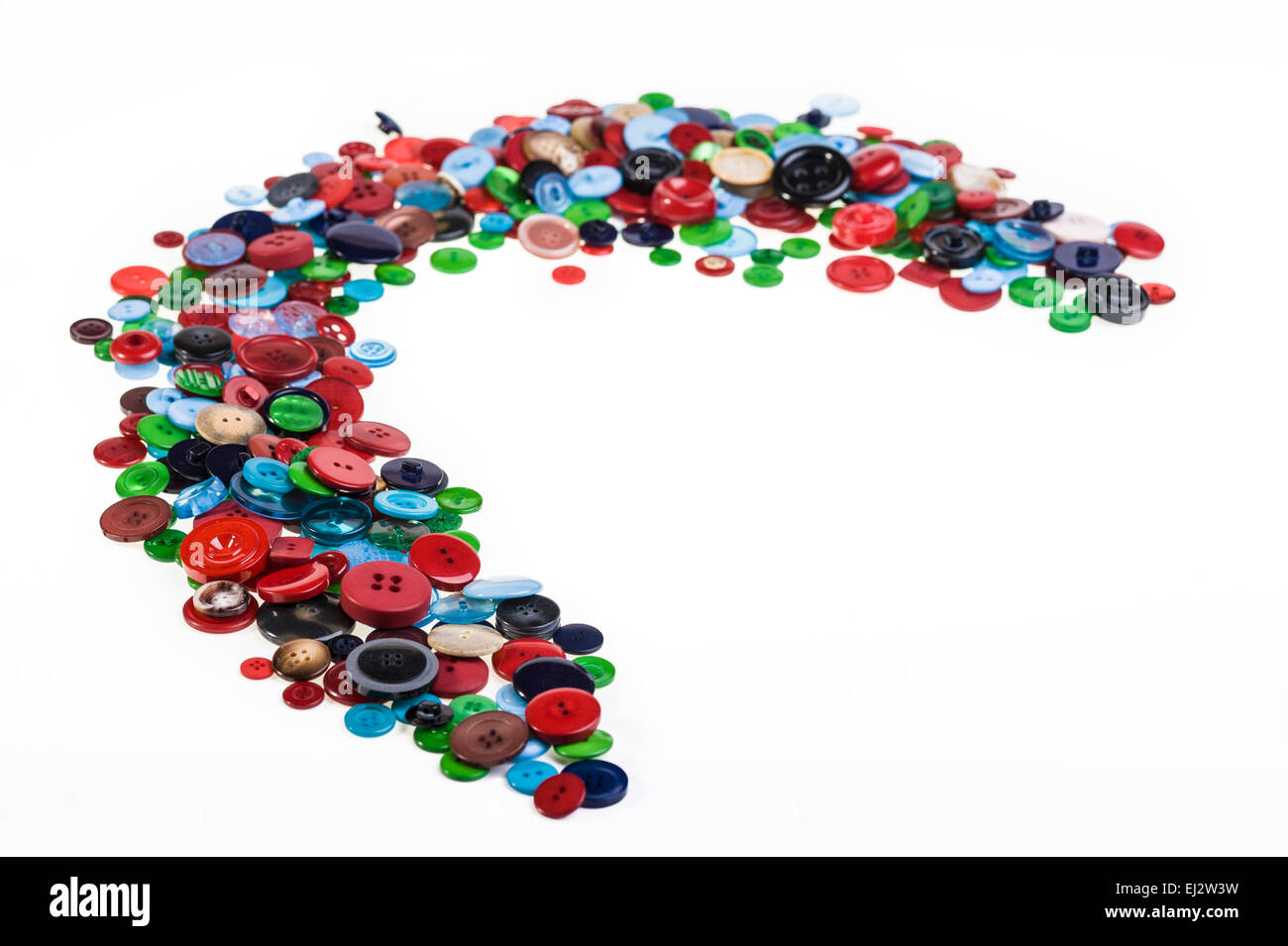 Buttons formed into a shape of a curve. - Stock Image