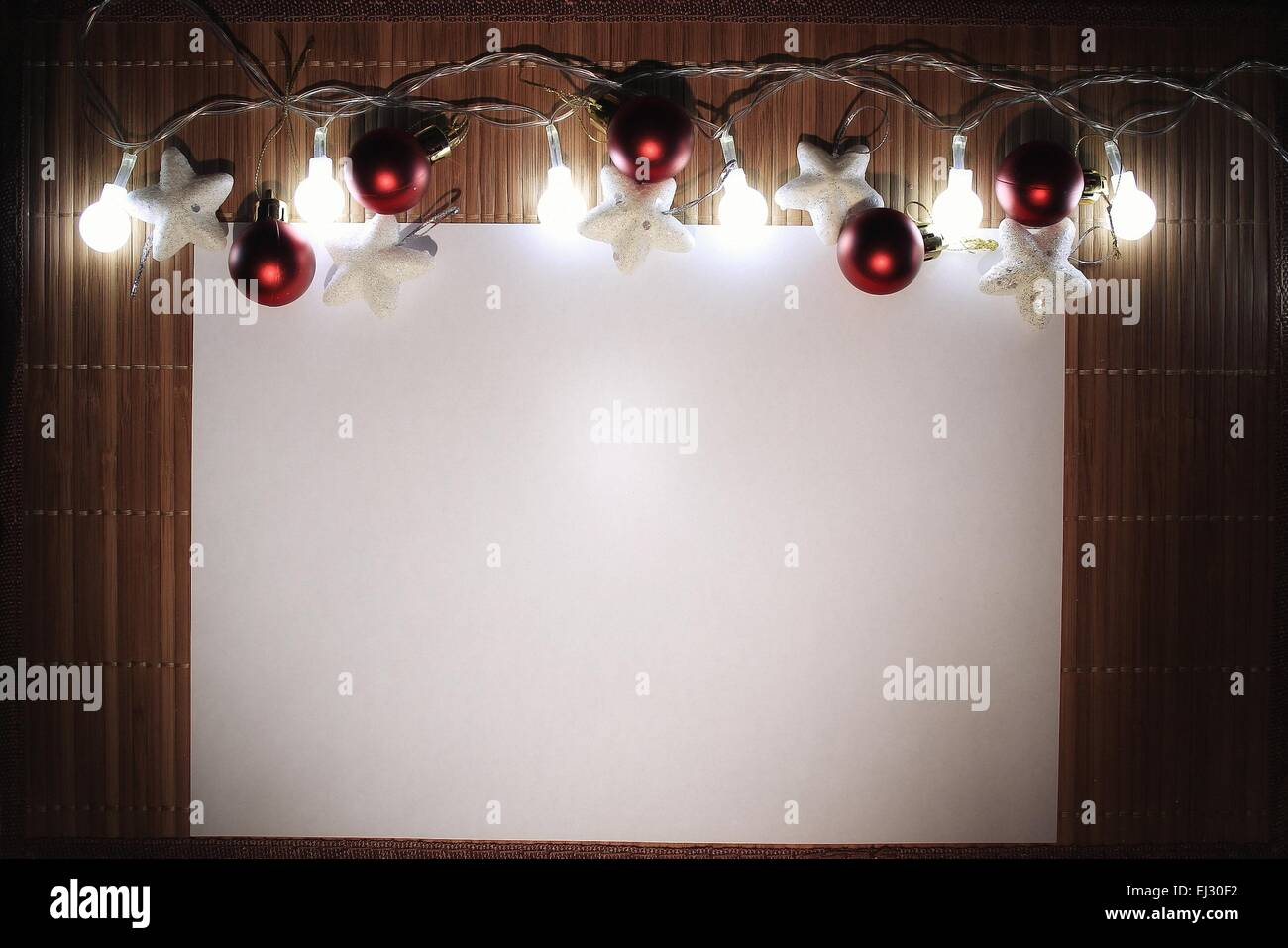 card happy new year and merry christmas blank white sheet of paper