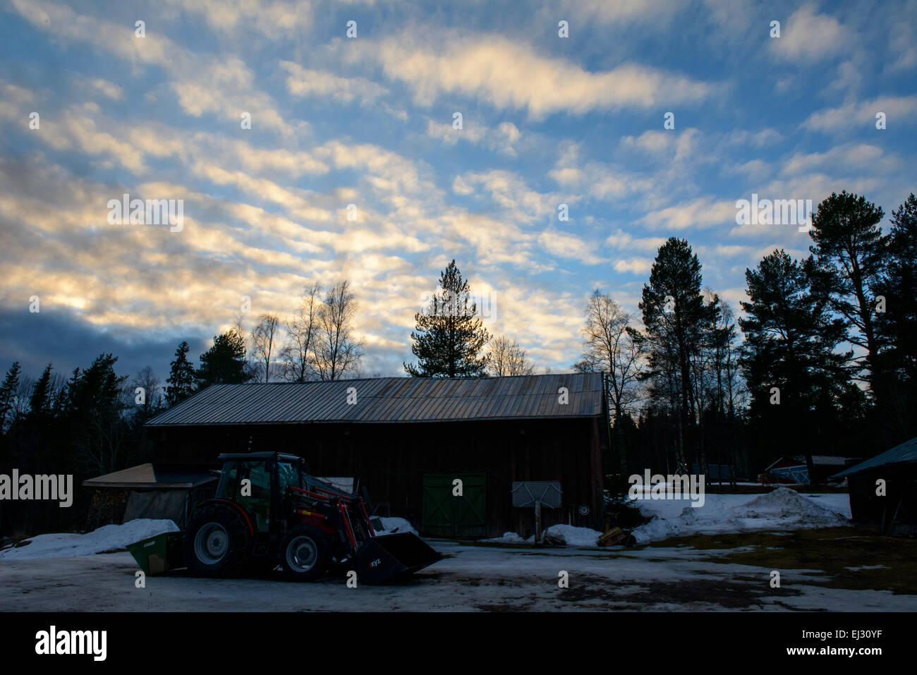 Northern Sweden countryside - Stock Image